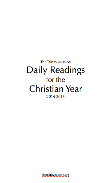 a link to the daily office lectionary for morning and evening prayer plus a psalm for each day